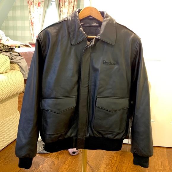 Burk's Bay Other - Genuine Leather Beechcraft Aviation Jacket 🖤